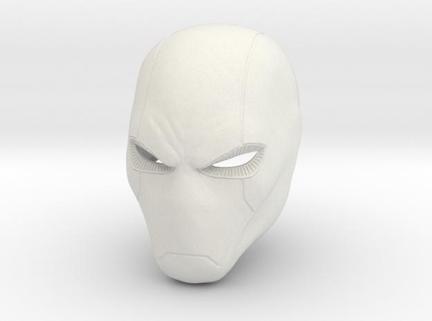 Red Hood new 52 style Helmet  in White Strong & Flexible