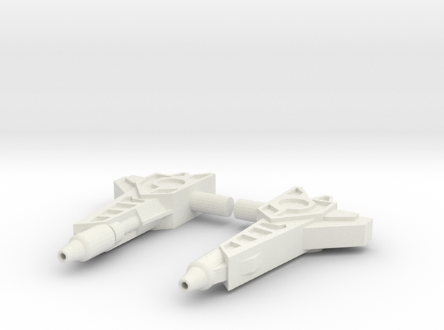 Titans Return Fastclash Weapons in White Natural Versatile Plastic
