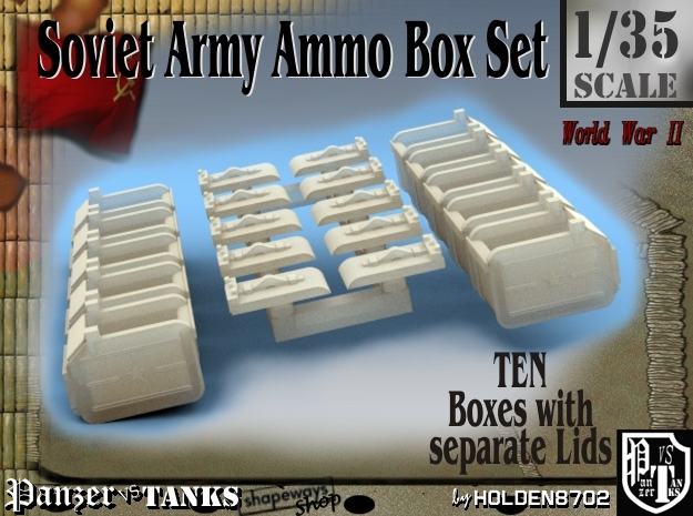 1-35 Soviet Ammo Box Set in Frosted Ultra Detail