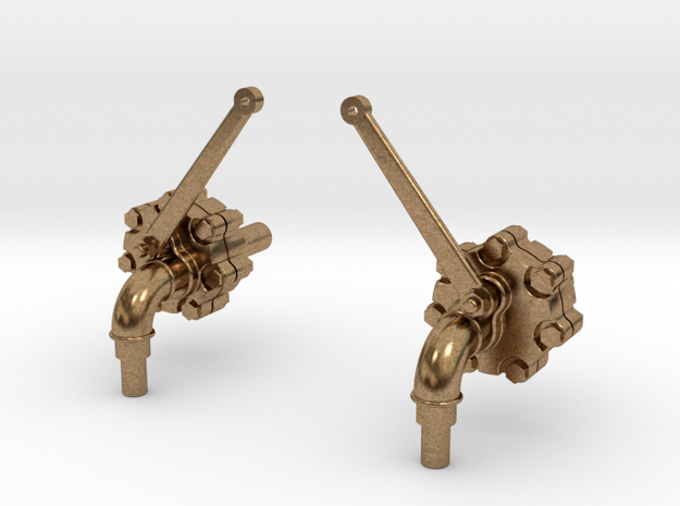 Blow-off Valves in Natural Brass