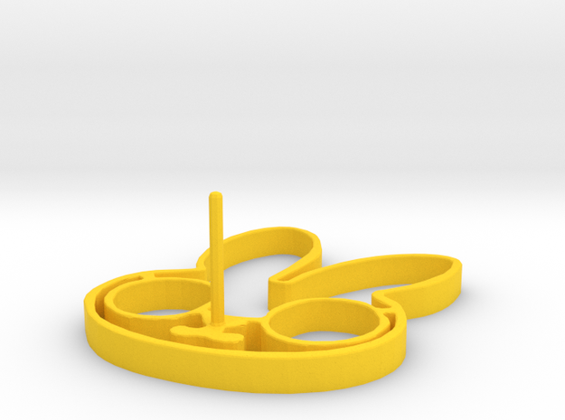 Easter Egg Ring  in Yellow Processed Versatile Plastic