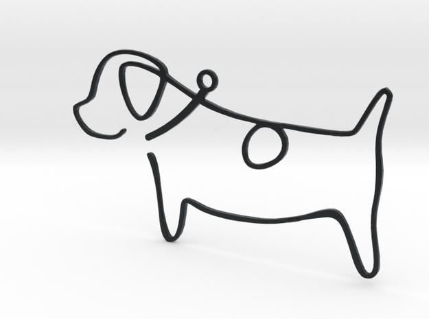 Doggy in Black Hi-Def Acrylate