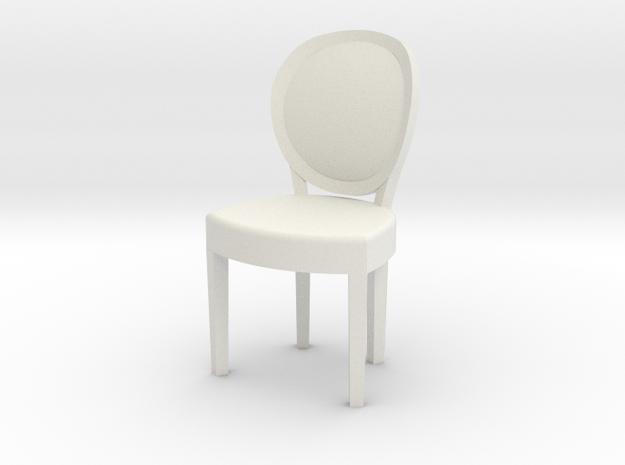 1:48 Louis XVI Chair in White Strong & Flexible