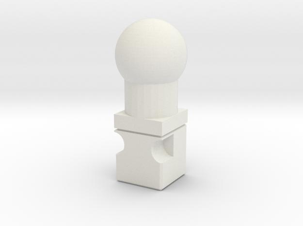 Titans Return to 6mm neck adaptor in White Natural Versatile Plastic