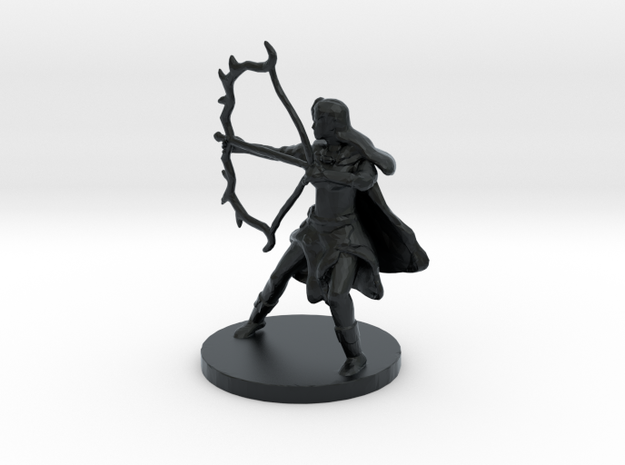 Female Half Elf Ranger in Black Hi-Def Acrylate
