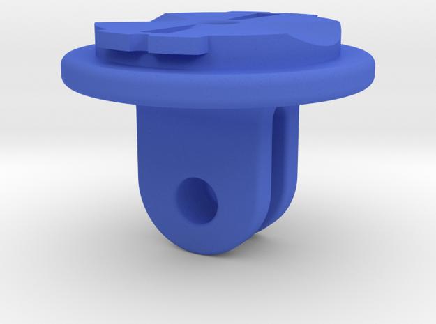 Garmin Varia Headlight To GoPro Adapter in Blue Processed Versatile Plastic