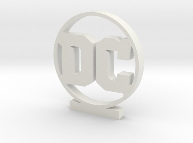 DC Logo in White Natural Versatile Plastic