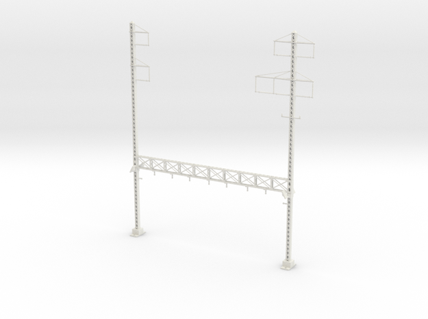 PRR LATTICE POLE NORTH PHILLY CUSTOM1 TALL Interlo in White Natural Versatile Plastic