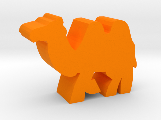 Game Piece, Asian Camel in Orange Processed Versatile Plastic