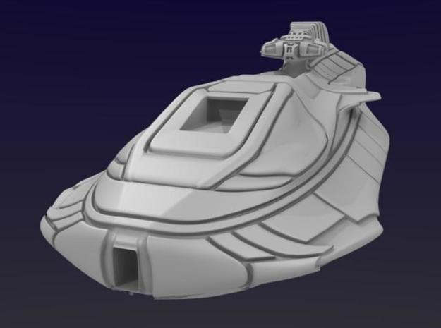 Montgomery Heavy Cruiser 3d printed Three-Quarter Front View