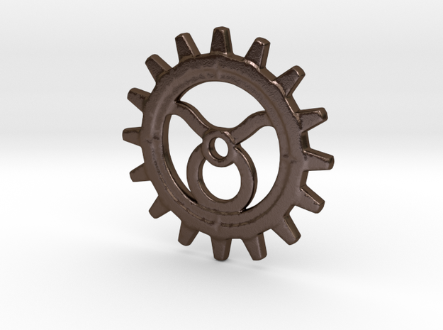 Taurus Gear in Polished Bronze Steel