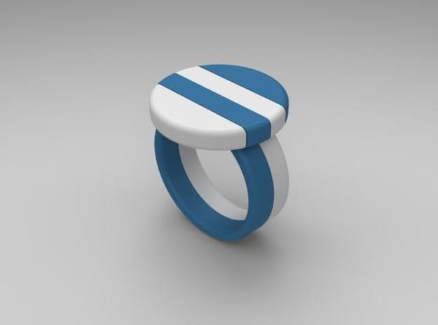 twin-puzzle-ring in White Natural Versatile Plastic