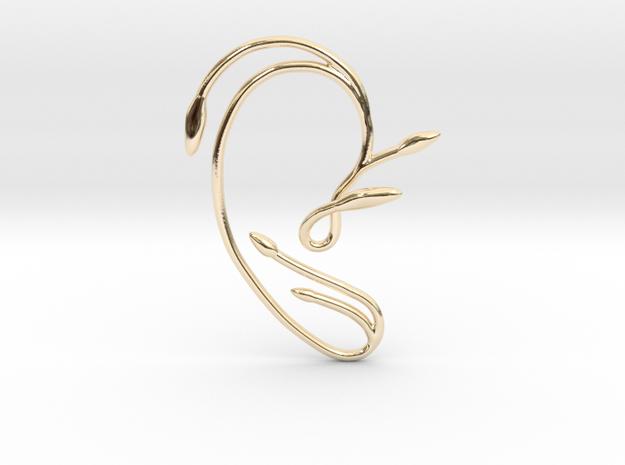 Ear Cuff of Belle (Right Ear) in 14k Gold Plated Brass