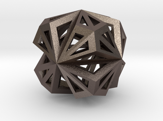 Octahedron in Stainless Steel