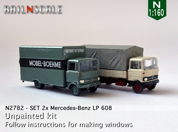 SET 2x Mercedes-Benz LP 608 (N 1:160) in Frosted Ultra Detail