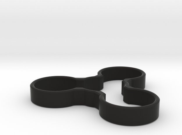 Minimalistic Trispinner in Black Strong & Flexible