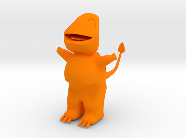 Charmanderlast in Orange Processed Versatile Plastic: Extra Small
