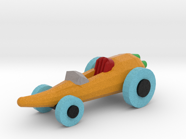 Carrot Car in Full Color Sandstone: Medium