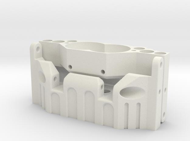Verteilergetriebe-Skidplatte SCX10 in White Strong & Flexible