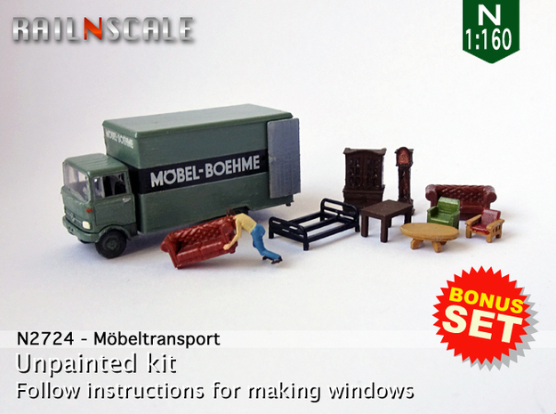 BONUS SET Möbeltransport (N 1:160)