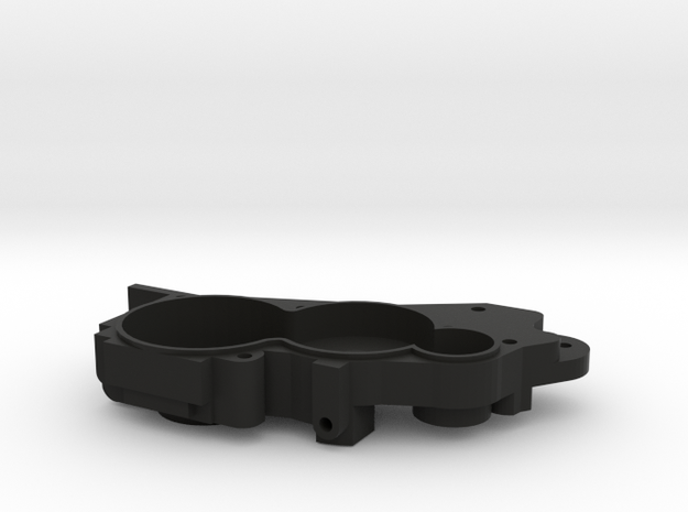 V2 TLR 3 Gear Laydown Transmission (left) in Black Strong & Flexible