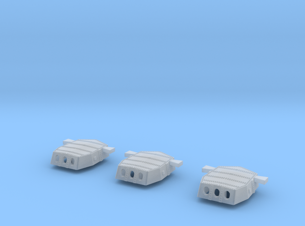 1/700 Invincible G3 16inTurrets Set of 3 in Smooth Fine Detail Plastic