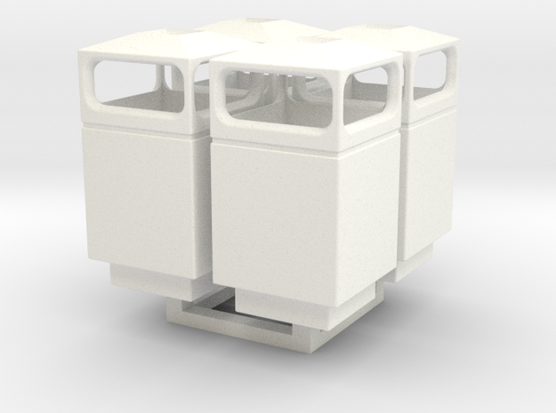 1/35 Trash Can set #1 MSP35-036 in White Processed Versatile Plastic