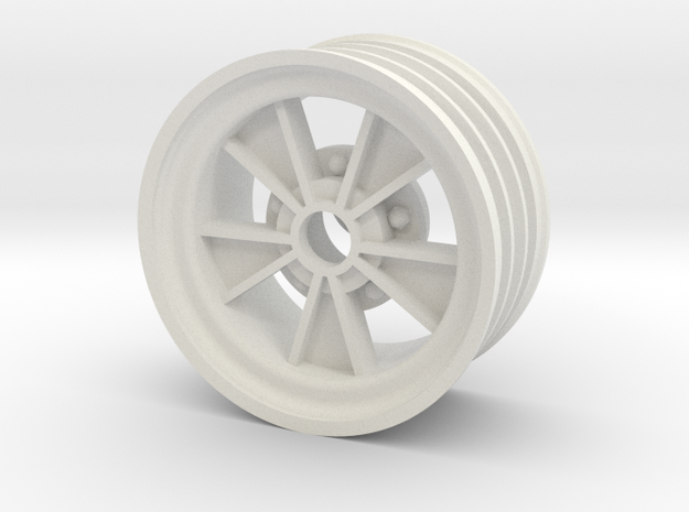 Front SRB BRM retro wheel in White Natural Versatile Plastic