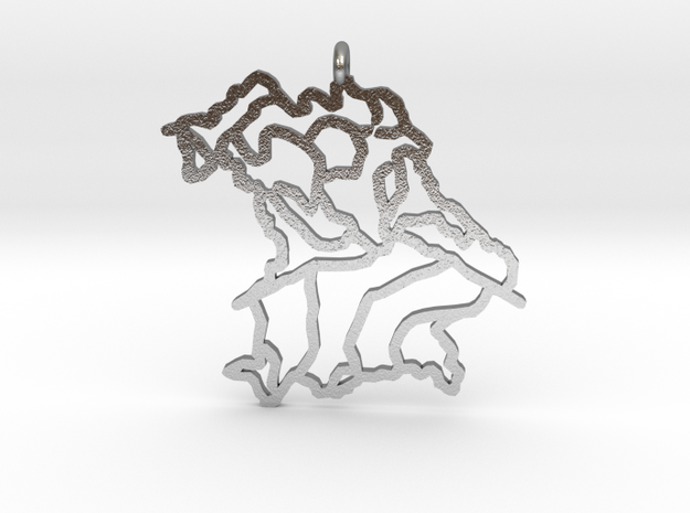 Bavaria Pendant in Natural Silver