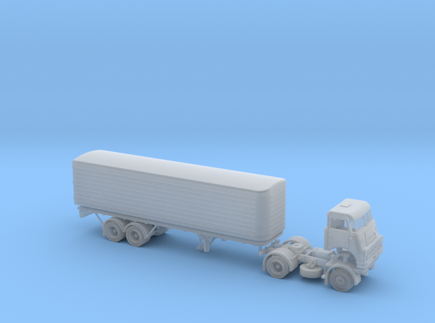 N scale DAF DO 2400 with DAF Eurotrailer in Smooth Fine Detail Plastic