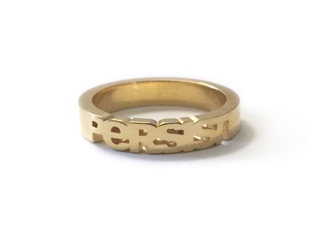 Persist Ring in 14k Gold Plated  in 14k Gold Plated Brass: 5 / 49