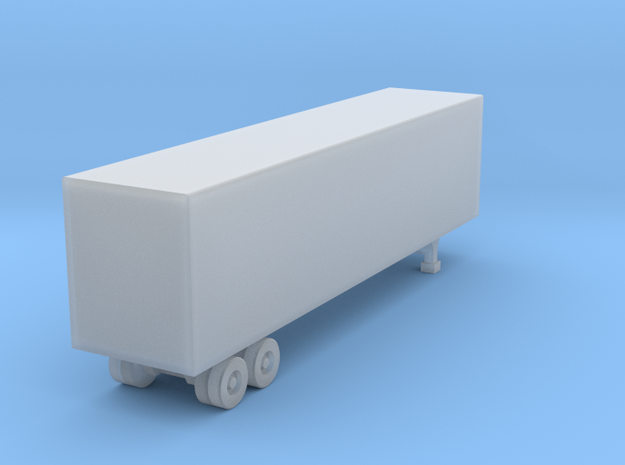 40 Foot Box Trailer - Z scale in Smooth Fine Detail Plastic