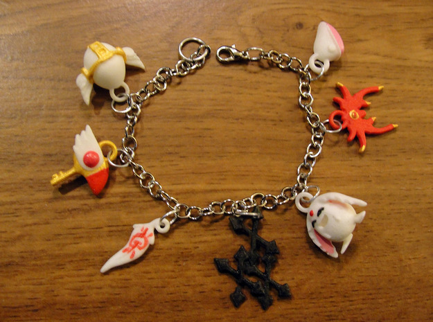 Anime Clamp Charms 3d printed painted and added to a chain
