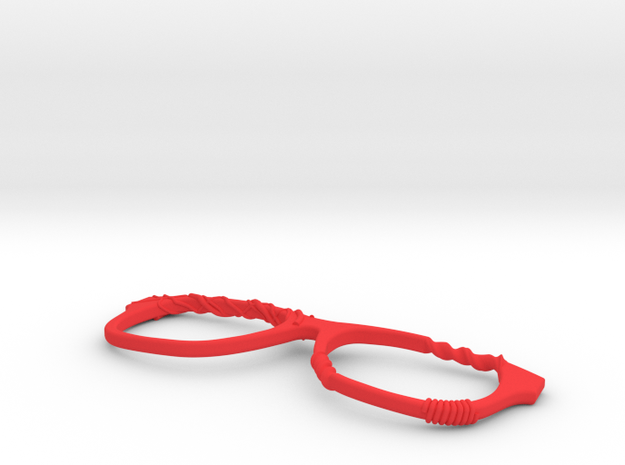 Glasses Fixed in Red Strong & Flexible Polished: Large