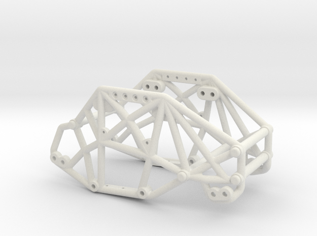 R1 Rock Buggy Chassis for Losi Micro Rock Crawler in White Natural Versatile Plastic
