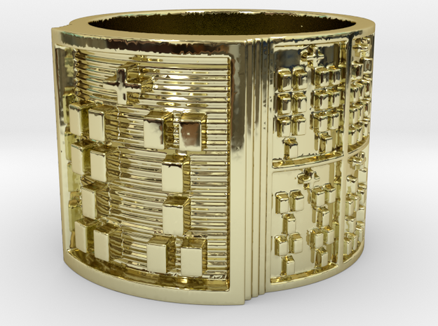 IWORIBATRUPON Ring Size 14 in 18k Gold Plated Brass