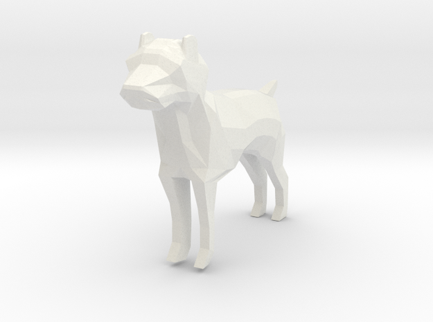 Low Poly Dog in White Strong & Flexible