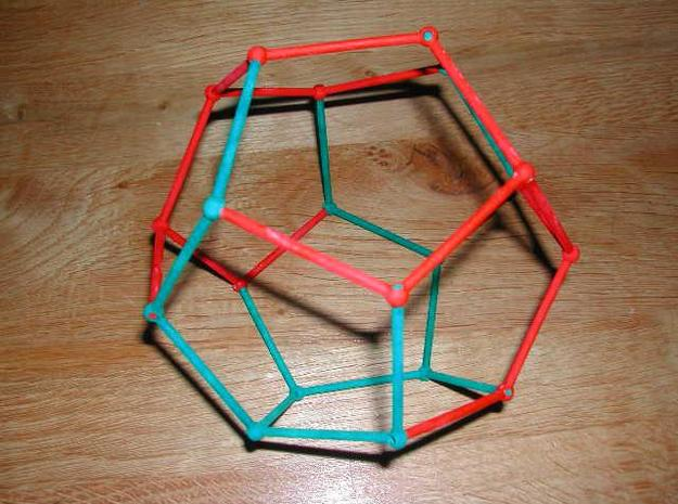 Righthand piece Dodecahadral Puzzle 3d printed completed puzzle