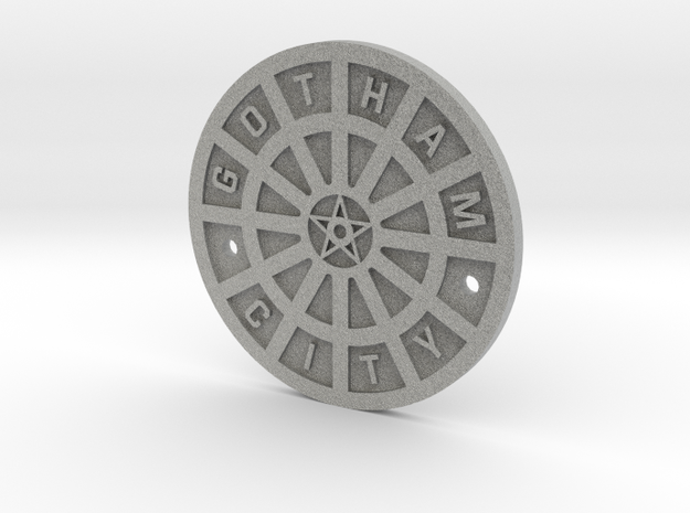 Gotham City Manhole – Sixth Scale  in Metallic Plastic