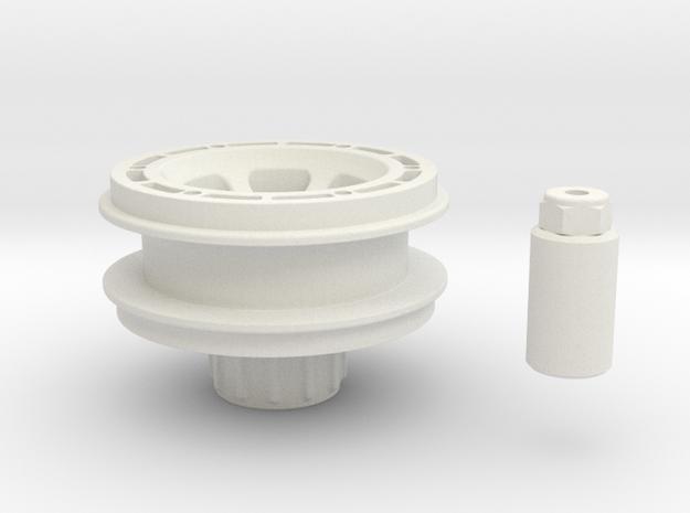 Beadlock rim for Losi Micro Rock Crawler in White Natural Versatile Plastic