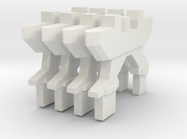 Reactive Missile Pylon x4 in White Natural Versatile Plastic