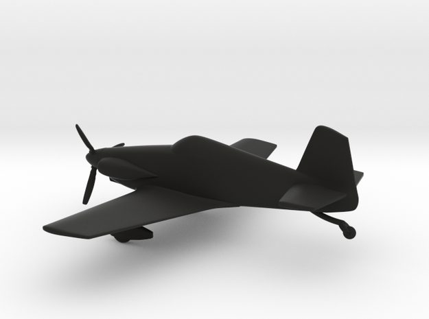Mustang Aeronautics Midget Mustang in Black Strong & Flexible: 1:72