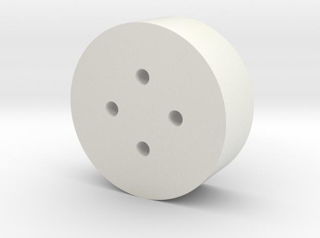 Bruder 574 Loader - WheelBoltsTemplate in White Natural Versatile Plastic