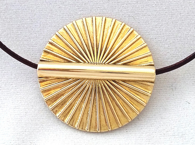 MILLENNIUM SUN PENDANT in Polished Brass