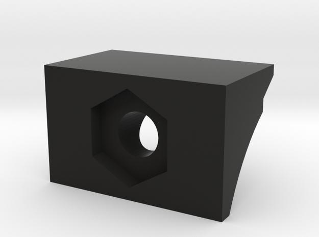 Airsoft 416/614 Rail Holder in Black Natural Versatile Plastic