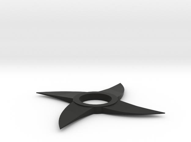 Throwing Star Spinner in Black Natural Versatile Plastic