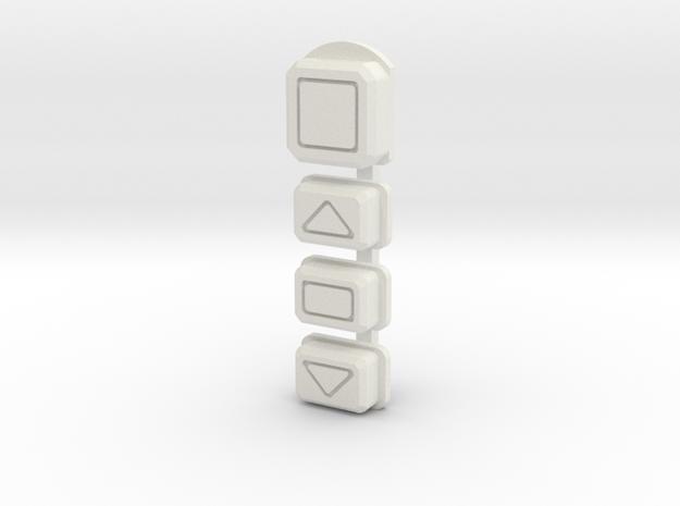 DNA75 Color DNA75C Faceplate v2 button set in White Natural Versatile Plastic