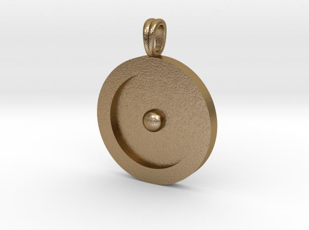 Circumpunct Dot Circle symbolic Jewelry Pendant