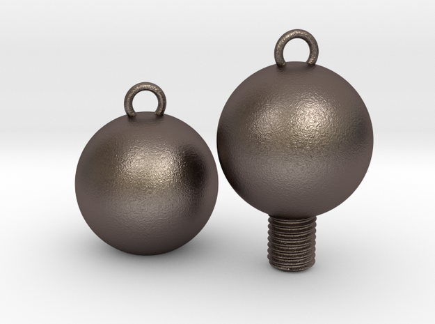 Nuts and Bolts, Spheres/Basic in Polished Bronzed Silver Steel