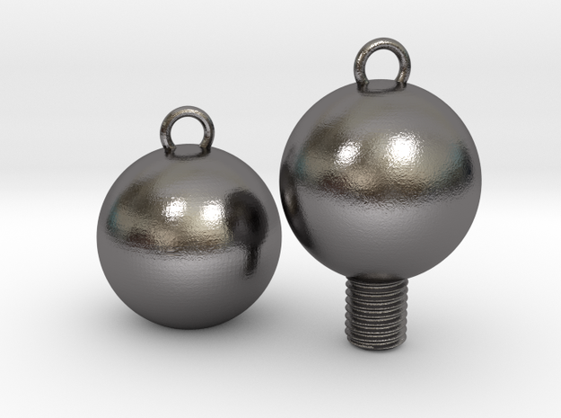 Nuts and Bolts, Spheres/Basic in Polished Nickel Steel